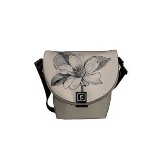 Vintage Flower Engraving/Graphic Courier Bags