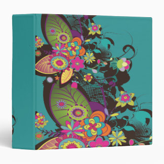 vintage flower frenzy notebook binder