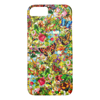 Vintage Flower Garden Colorful Butterfly Floral iPhone 8/7 Case
