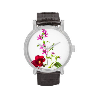 Vintage Flower Illustration, Floral Drawing Watches