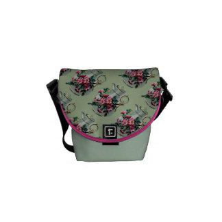 Vintage Flower Jug Mini Messenger Bag