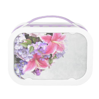 Vintage Flower Lily Lunch Boxes