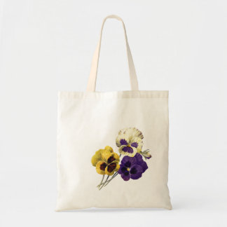 Vintage Flower Pansy Tote Bag
