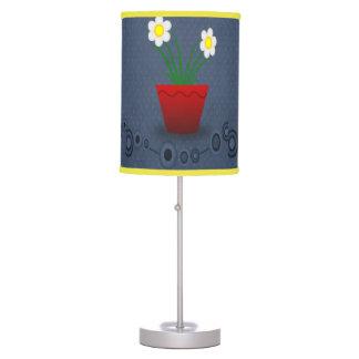 Vintage flower pot red blue decorative lamp