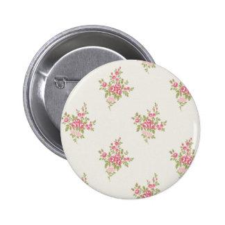Vintage Flower Power 2 Inch Round Button