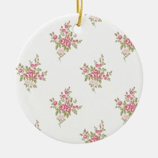Vintage Flower Power Ceramic Ornament