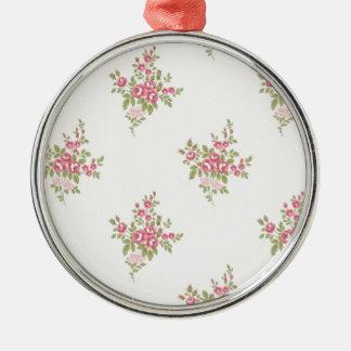 Vintage Flower Power Metal Ornament