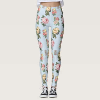 Vintage Flower print Leggings