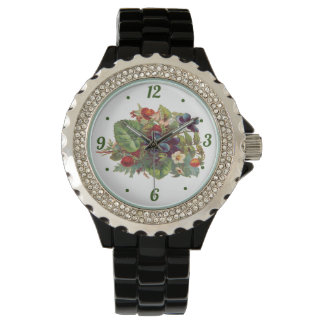 Vintage flower print watch