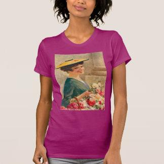 Vintage Flower seller, Cote d'Azur Tshirts