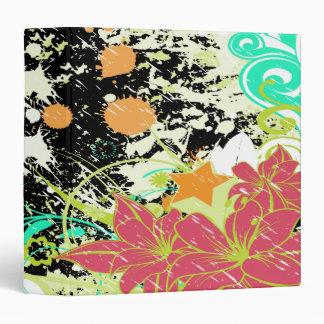 vintage flower splatter notebook-2-01 vinyl binders
