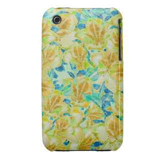 Vintage Flowers Abstract Pattern iPhone 3 Case-Mate Cases