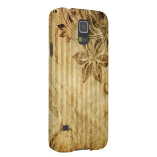vintage flowers and stripes case for galaxy s5