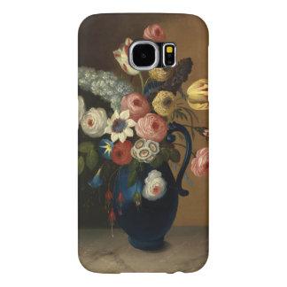 Vintage Flowers Blue Jug Art Samsung Galaxy S6 Cases