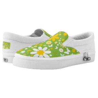 VINTAGE FLOWERS & BUTTERFLIES Slip-On SNEAKERS