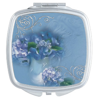Vintage Flowers Compact Mirrors