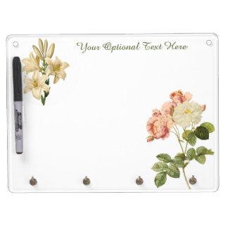 Vintage Flowers custom monogram message board 6