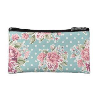 Vintage flowers design cosmetic bags