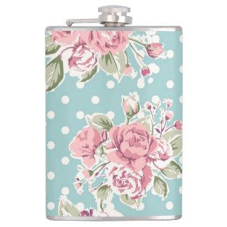 Vintage flowers design hip flask