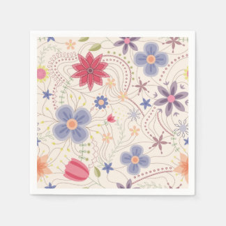 Vintage flowers disposable napkin
