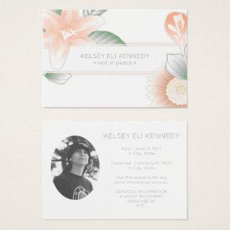 vintage flowers elegant funeral business card