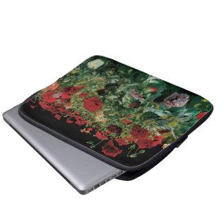 Vintage Flowers Floral Art, Poppies by Sargent Laptop Sleeves