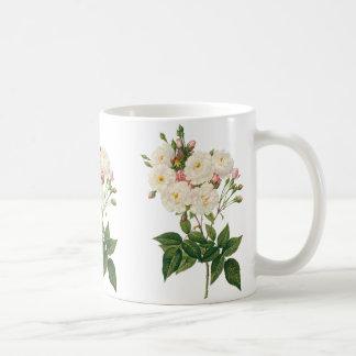 Vintage Flowers Floral Blush Noisette Rose Redoute Coffee Mug