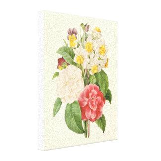 Vintage Flowers Floral Informal Bouquet by Redoute Canvas Print