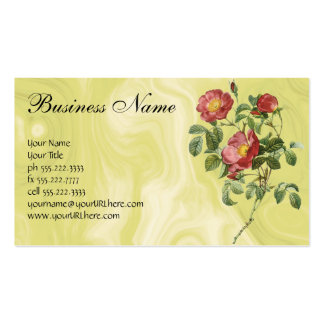 Vintage Flowers Floral Red Rose of Love by Redoute Pack Of Standard Business Cards