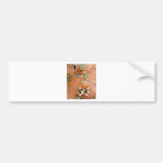vintage flowers G. Caillebotte Nasturces Bumper Sticker