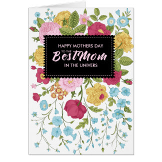 Vintage Flowers Happy Mother Day Card