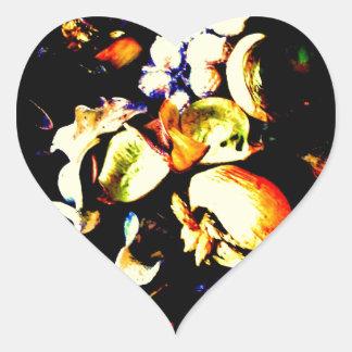 Vintage Flowers Heart Sticker