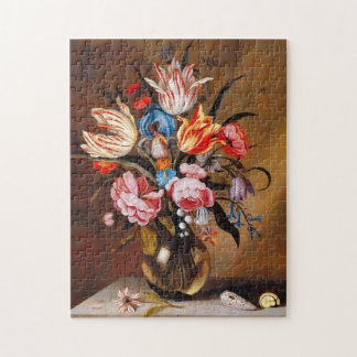 Vintage Flowers in a Vase | Jigsaw Puzzel Jigsaw Puzzle