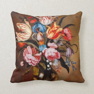 Vintage Flowers in a Vase | Pillow