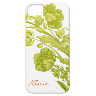 Vintage Flowers in Green and Yellow iPhone 5 Covers