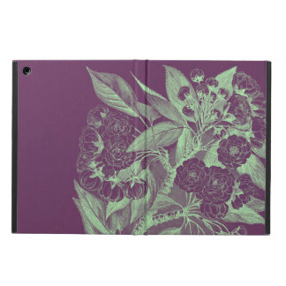 Vintage Flowers in Purple Cover For iPad Air