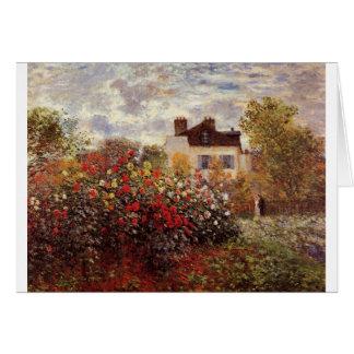 vintage flowers monet-s-garden-in-argenteuil-sun card