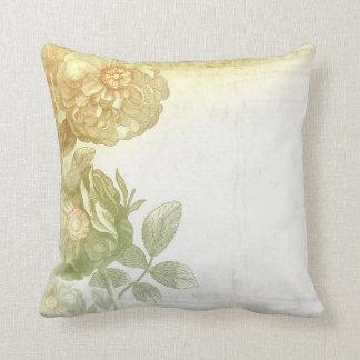 vintage flowers old elegant throw pillow