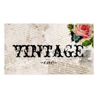 Vintage Flowers over Distressed Text Double-Sided Standard Business Cards (Pack Of 100)