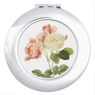 Vintage Flowers pocket mirror 2 Mirrors For Makeup