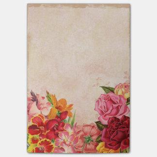 Vintage Flowers Post-it® Notes 4 x 6