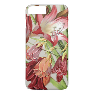 Vintage Flowers Red and Yellow Amaryllis Blossoms iPhone 7 Plus Case