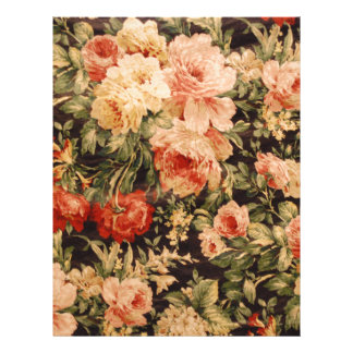 Vintage flowers rose texture 900s style customized letterhead