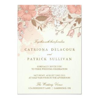 Vintage Flowers Spring Garden Wedding Invitation