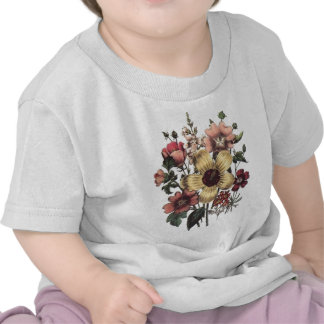 Vintage Flowers Yellow Peach Infant T-Shirt