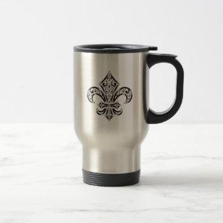 Vintage Fluer de Lis Travel/Commuter Mug