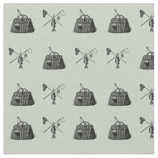 Vintage Fly Fishing Craft Fabric