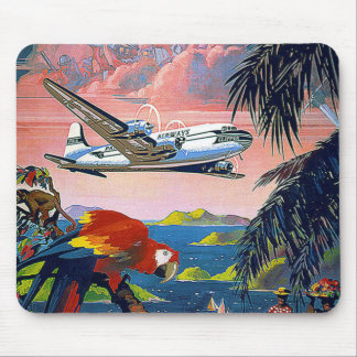 Vintage Fly to Caribbean Mouse Pad