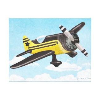 Vintage Flyer: Yellow & Black Canvas Print