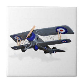 Vintage, Flying Biplane Tile